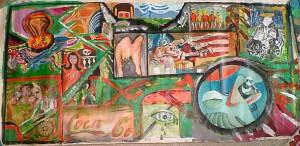 Concept: M.Kuhn 60 / 130 cm    Acrylic / canvas Participants: -Alberto Longoni, -G.Fini, -Nanette Libis, -Marc Kuhn