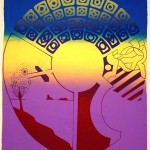 Three participants: Howe, Lutis, Kuhn; New York: 1971; Col-Art Screenprint: 45cm x 35cm