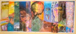 Concept: M.K. 120 / 200 cm   Acrylic / canvas Participants: -Omar Yamil, -Conrado Diaz Ruiz, -Ariam Lazaro, Humberto Lamberti, -Siegfried Daniel, -Aixa, -Sergio Linares, -Freya Jaen, -Marc Kuhn