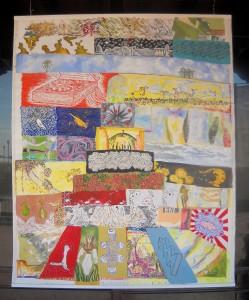 Concept : M.Kuhn Acrylic on canvas, 200 / 120 cm Participants: -Rafael Pliego, -Cisco Jimenez, -Agustin Santoyo, -Claudia Jurado, -Hugo Nunez, -Eduardo Lugo, -Amira Amanda, -Lucy Rodriguez, -Kattia Calero, -Gabriela Videla, -Rossana Duran, -Marc Kuhn.