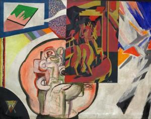 Concept: M.Kuhn  90 / 140 cm    Acrylic / canvas Participants: -Peter Bär, -Dolores Wyss, -Esther Gruber, -Werner Thaler, Markus Kaufmann, -Marc Kuhn.