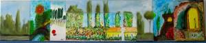 Acrylic on canvas,   25 / 100 cm  concept: M.K.   Participants: -Rolf von Felten, Paul Esser-Kukulka, -Martin Helmling, -Marc Kuhn