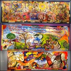 Three Col-Art-Murals:  Mexico City 2014
